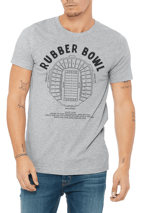 Akron Rubber Bowl - Unisex Crew - CLE Clothing Co.