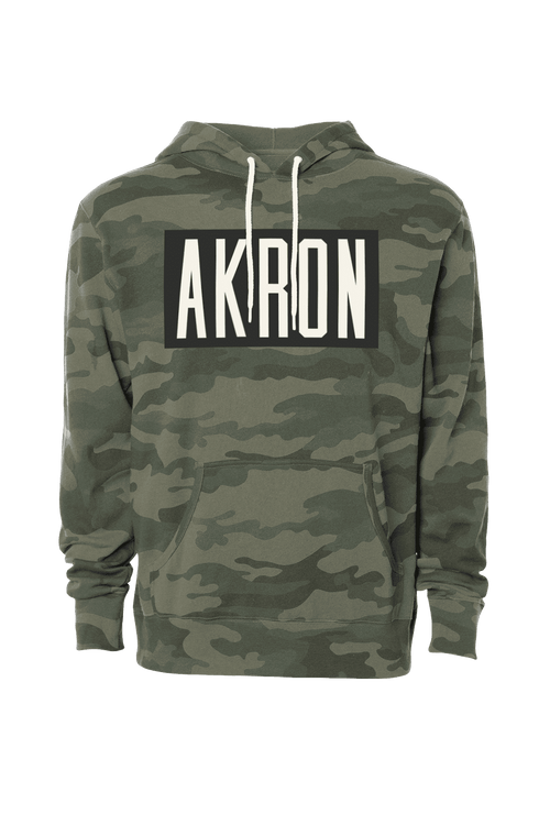 Akron Block Camo - Unisex Pullover Hoodie - CLE Clothing Co.