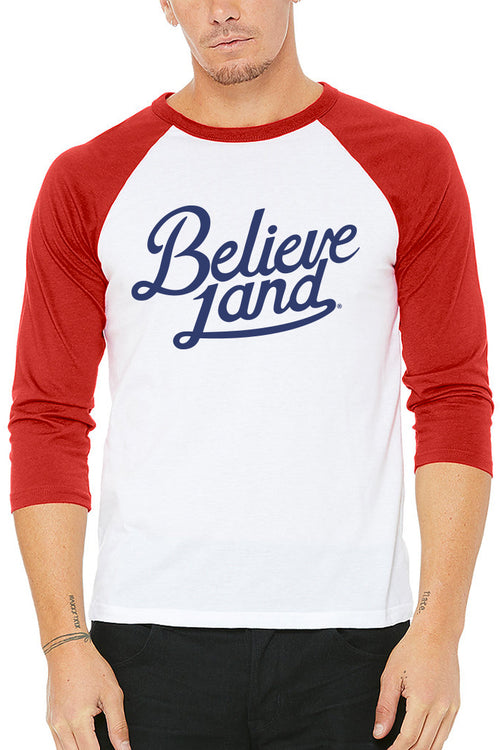 Believeland Script - Unisex Raglan - CLE Clothing Co.