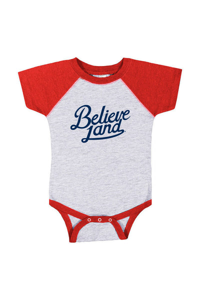 Believeland Script - Baby Onesie - CLE Clothing Co.