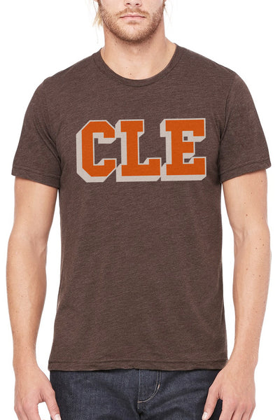 CLE College Brown & Orange - Unisex Crew - CLE Clothing Co.