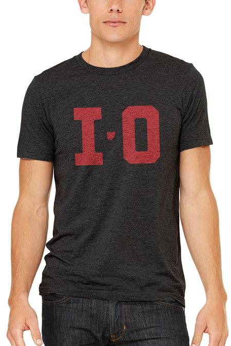 Ohio Pocket Tee - Red & Black - Unisex Crew
