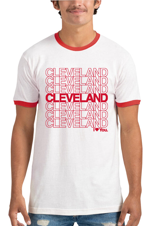 Cleveland I Love You Repeat - Unisex Ringer Tee