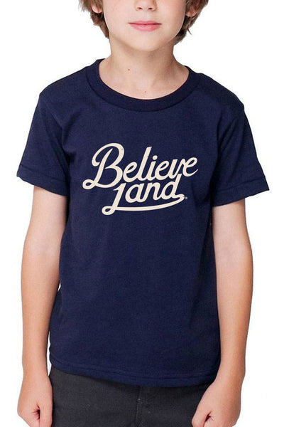 Believeland Script - Kids/Toddler Crew - CLE Clothing Co.