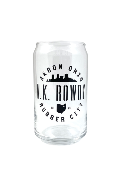 AK Rowdy Pop Can Glass