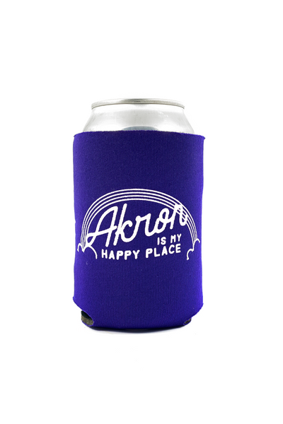 Akron Is My Happy Place Can Cooler