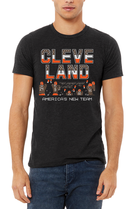 CLE Football - Womens Relaxed Fit V-Neck