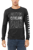 Cleveland Art Deco Unisex Long Sleeve Crew