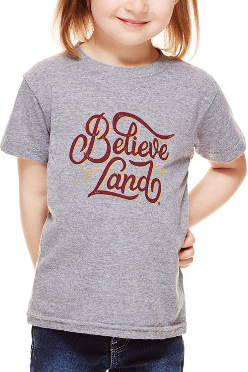 Believeland - Wine/Gold - Kids Crew - CLE Clothing Co.