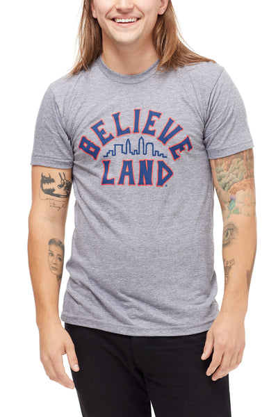 Believeland - Navy Red - Unisex Crew – CLE Clothing Co. e19918d3c