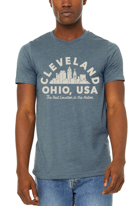 Cleveland Collage Unisex Long Sleeve Crew