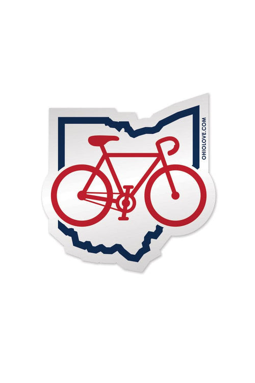 Bike Ohio - Sticker - CLE Clothing Co.