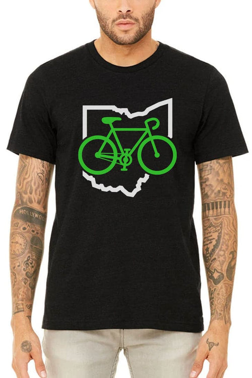 Bike Ohio - Unisex Crew - Heather Black