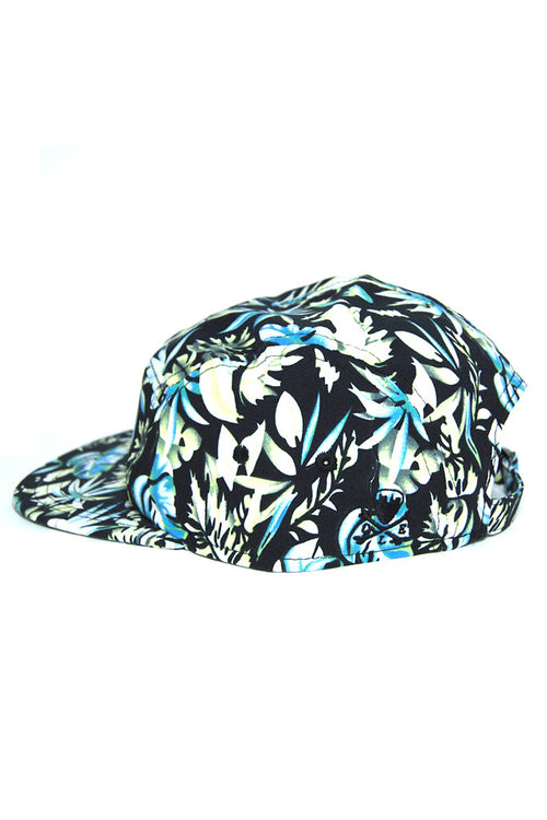 CLE Logo 5 Panel Hat - Black Floral