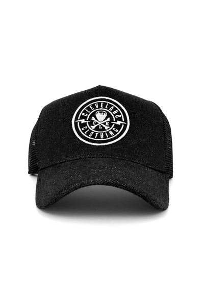 CLE Logo Trucker - Black Denim - CLE Clothing Co.