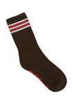 Brown Striped Tube Sock