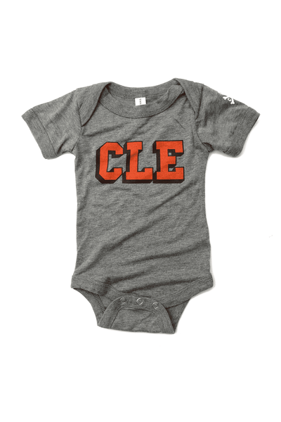CLE College - Brown/Orange - Onesie - CLE Clothing Co.