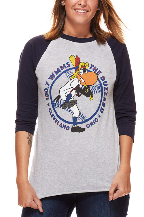 The Buzzard - Navy/Red - Unisex Raglan