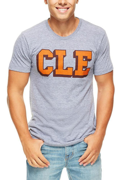 CLE College - Brown/Orange - Unisex Crew - CLE Clothing Co.