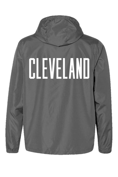 CLE College Unisex Windbreaker - Graphite/Orange