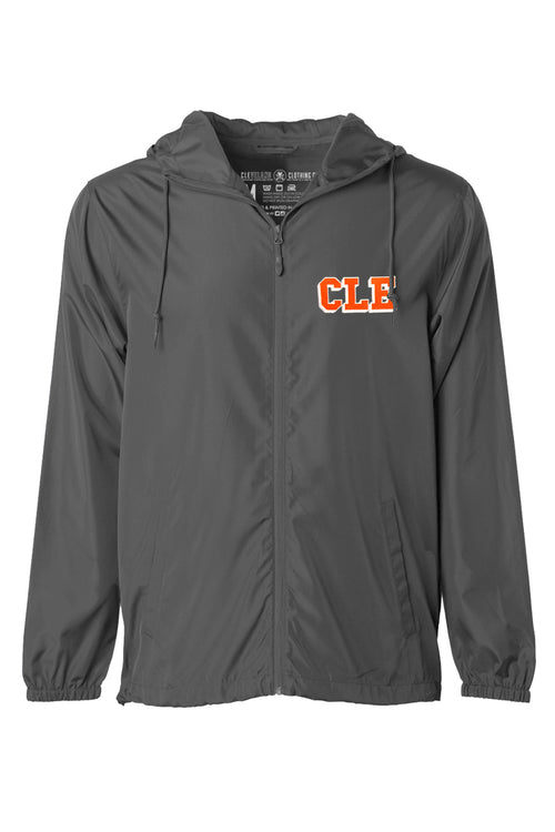CLE College Unisex Windbreaker - Graphite/Orange - CLE Clothing Co.