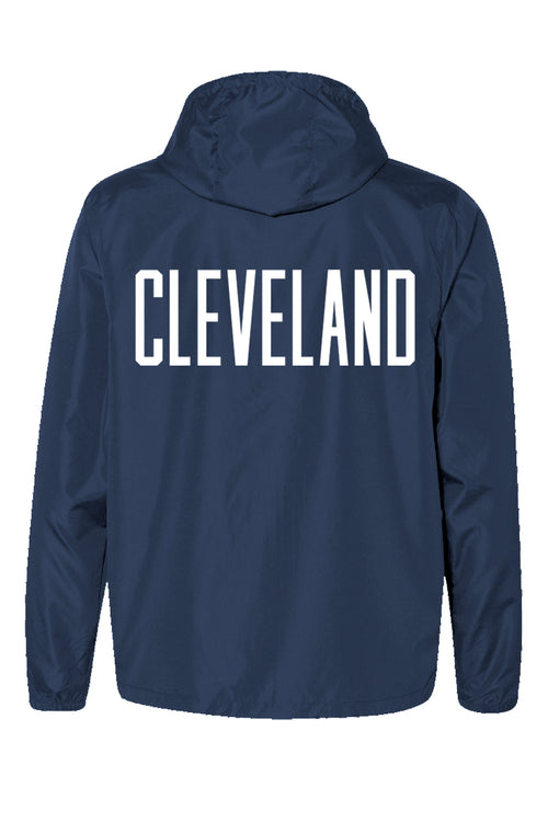 CLE College Unisex Windbreaker - Navy/Red - CLE Clothing Co.