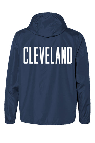 CLE College Unisex Windbreaker - Navy/Red