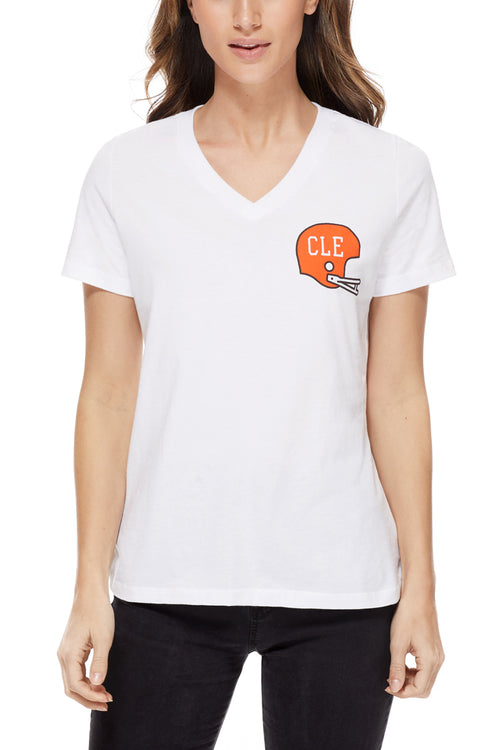CLE Helmet Pocket - Womens Relaxed V-Neck - CLE Clothing Co.