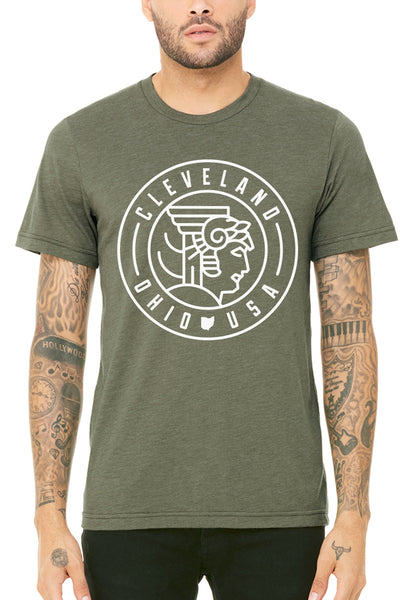 Cleveland Guardian Seal - Unisex Crew - Heather Lieutenant - CLE Clothing Co.