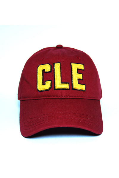 "CLE - ""Dad Hat"" - Wine/Gold"