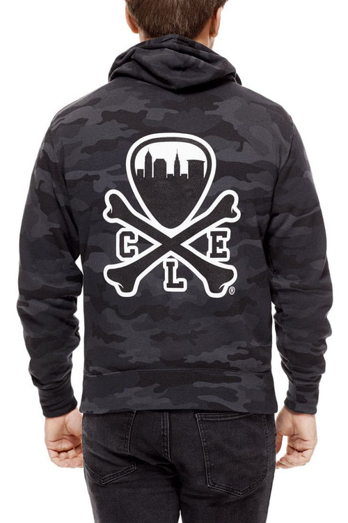 CLE Logo Hoodie - Black Camo - CLE Clothing Co.