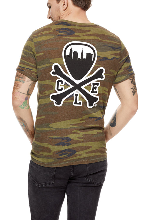 CLE Logo - Unisex Crew - Camo - CLE Clothing Co.