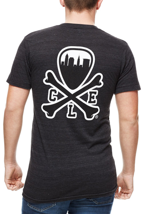 CLE Logo Tee - Unisex Crew - Tri Black - CLE Clothing Co.