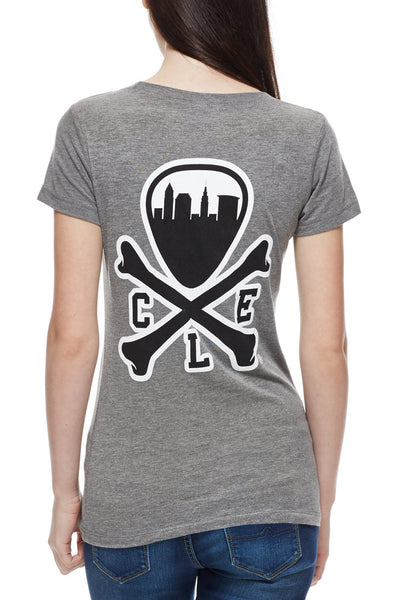 CLE Logo - Womens Crew - Athletic Grey - CLE Clothing Co.
