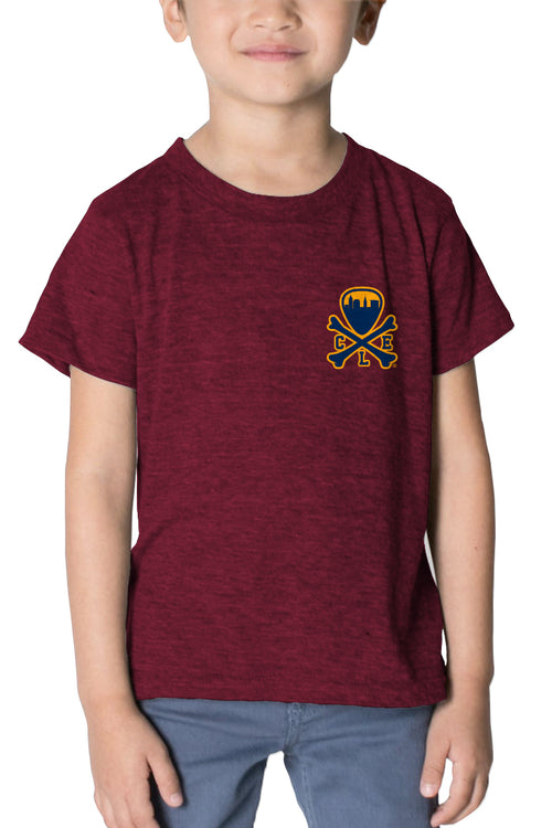 CLE Logo - Kids Crew - Wine/Gold