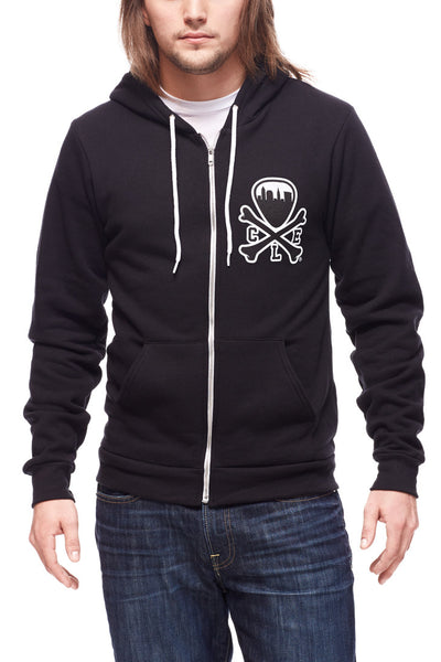 CLE Logo Hoodie - Black - CLE Clothing Co.