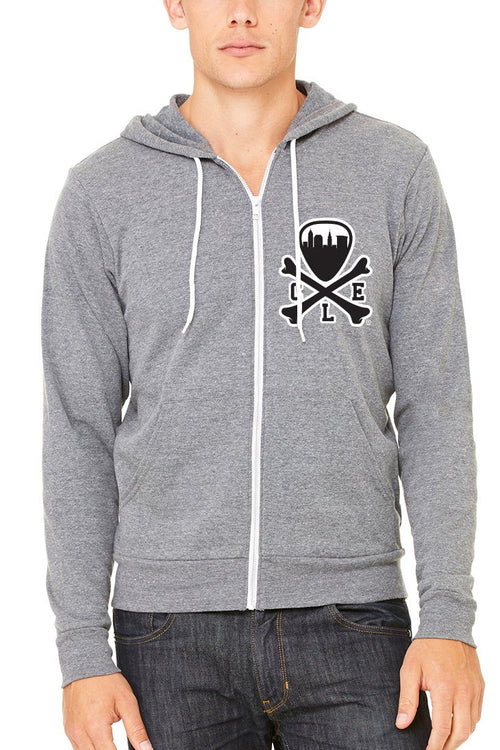 CLE Logo Hoodie - Heather Grey - CLE Clothing Co.