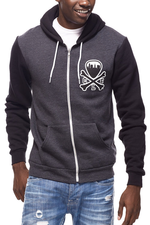 CLE Logo Hoodie - Grey/Black - CLE Clothing Co.