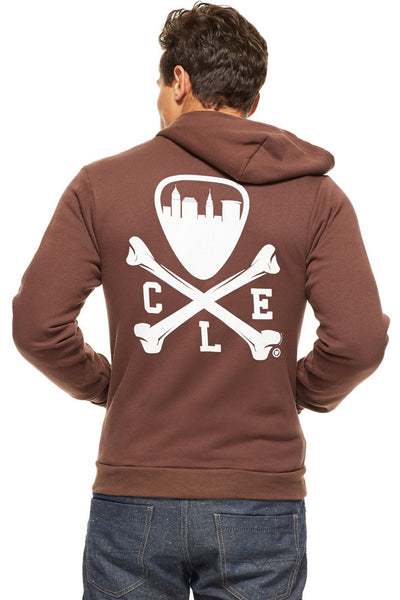 CLE Logo Hoodie - Brown - DISCONTINUED