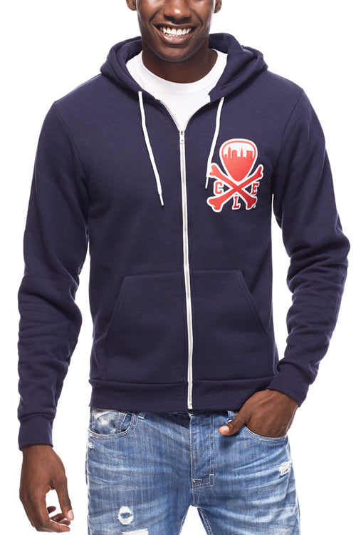 CLE Logo Hoodie - Navy - CLE Clothing Co.