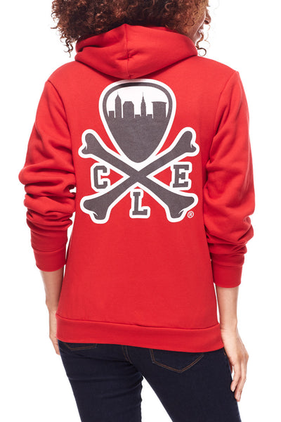 CLE Logo Hoodie - Red - CLE Clothing Co.