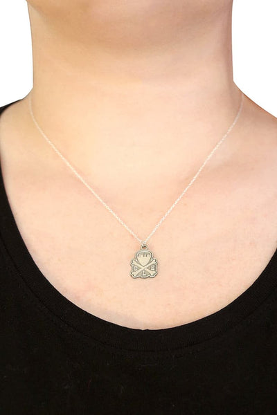 CLE Logo Pendant Necklace - Old Silver