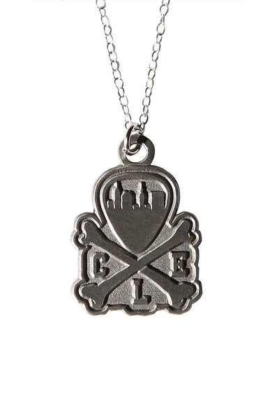 CLE Logo Pendant Necklace - Old Silver - CLE Clothing Co.
