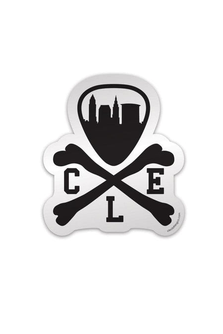 CLE Logo Pendant Necklace - Silver & Black