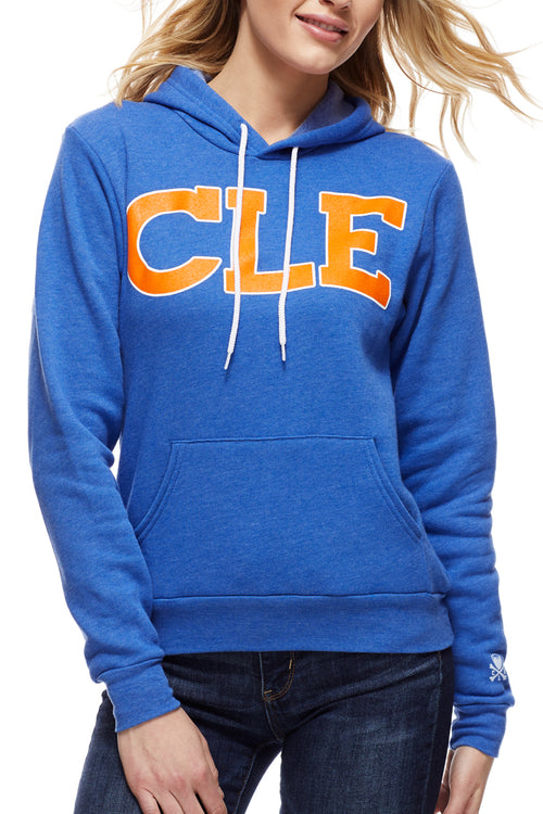 CLE Old School  80's - Wine/Gold - Pullover Hoodie