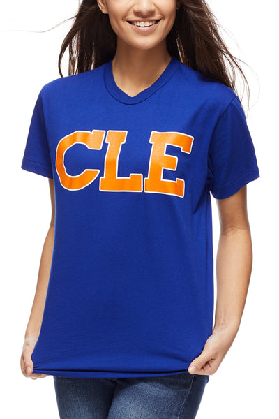 CLE Old School 80's - Blue/Orange - Unisex Crew - CLE Clothing Co.