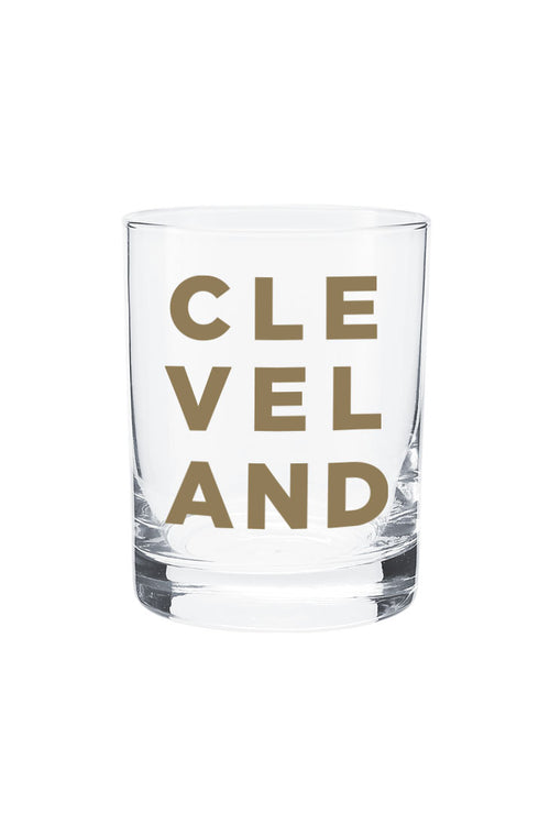 Stacked Cleveland - Old Fashioned Glass