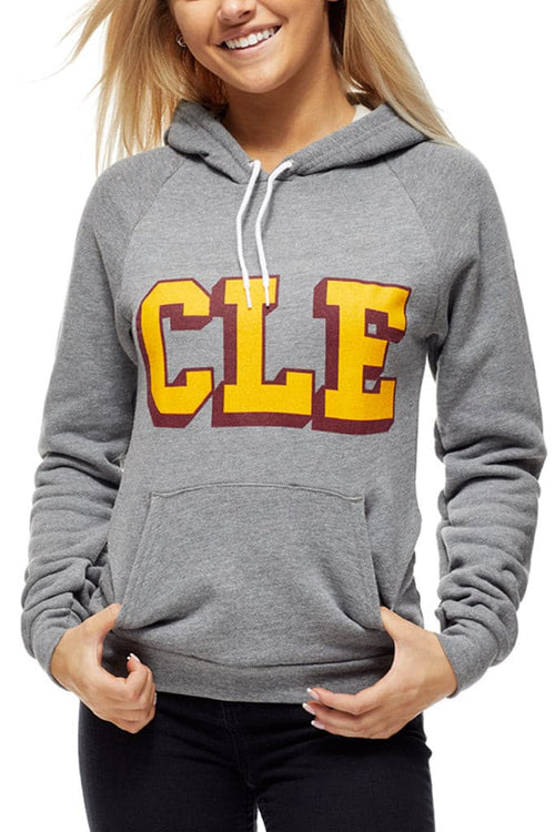 CLE College -Wine/Gold - Pullover Hoodie - CLE Clothing Co.