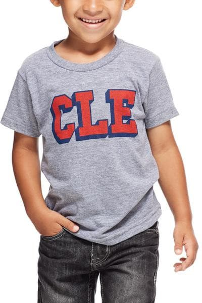 CLE College - Navy/Red - Kids Crew - CLE Clothing Co.