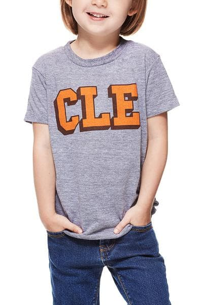 CLE College - Brown/Orange - Kids Crew - CLE Clothing Co.